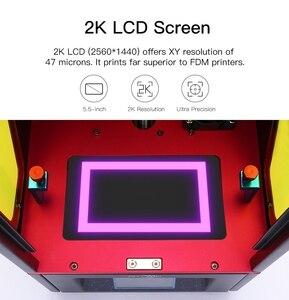 Image 2 - ANYCUBIC الفوتون SLA طابعة ثلاثية الأبعاد مع 40nm الراتنج الأشعة فوق البنفسجية LED اللون شاشات تعمل باللمس TFT ثلاثية الأبعاد مجموعة الطابعة impresora ثلاثية الأبعاد drucker imprimante ثلاثية الأبعاد