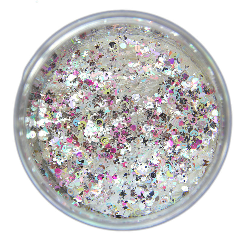 1kg 27 colors  EXCLUSIVE Glitter Shape Mix, 20different glitter shapes (Sequins, Hearts, Stars, Moons, Clouds, Hex, Butterflies)