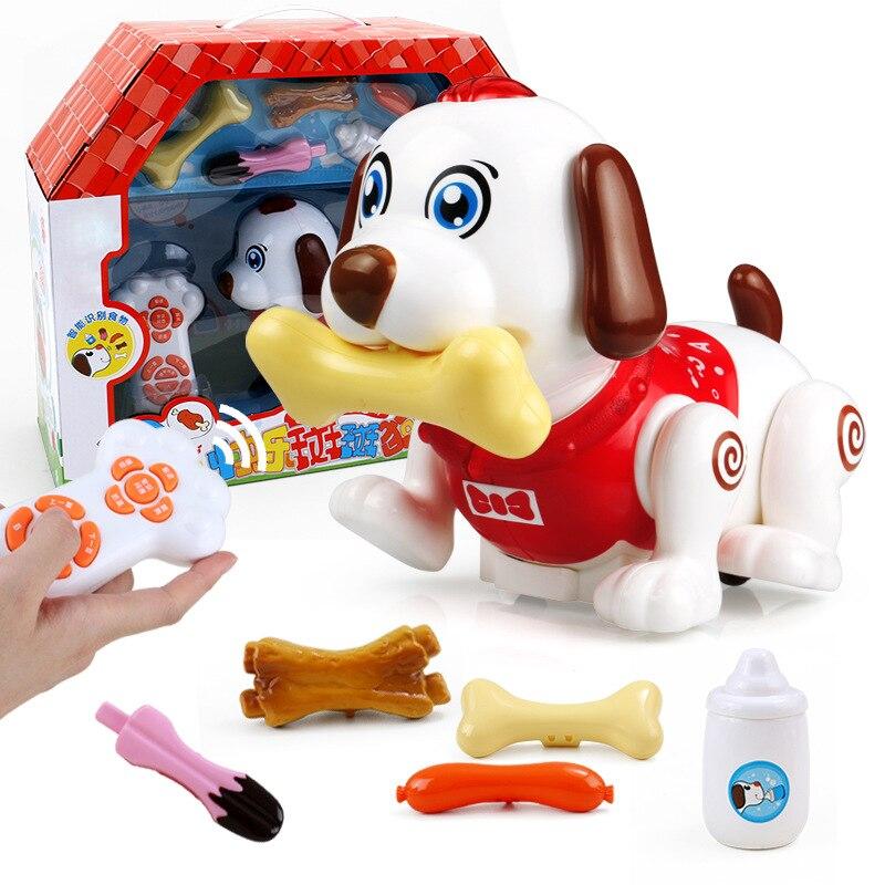 Elettrico Scabbers di Cane A Distanza Giocattolo di Controllo 2 3 6 Anno Vecchio 5 Bambini Smart Pet Robot cane Sensibile Al Tocco Modello Cucciolo - 3