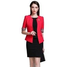 Rose jacket + black dress elegant suit women  office wear for frock coat clothet 2 piece