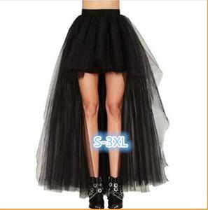 Женская винтажная юбка-корсет в стиле стимпанк, черная длинная готическая юбка размера плюс 3XL