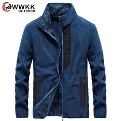 WWKK New Hiking Jackets Outdoor Sport Clothes Lnner Fleece Men Waterproof Velvet Winter Warm Camping Trekking Skiing Male Jacket