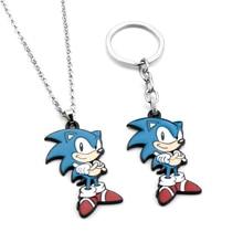 Keychain Enamel Necklace Charm Hedgehog-Figure Car-Keyring Cosplay-Bag Sonic Anime Gift