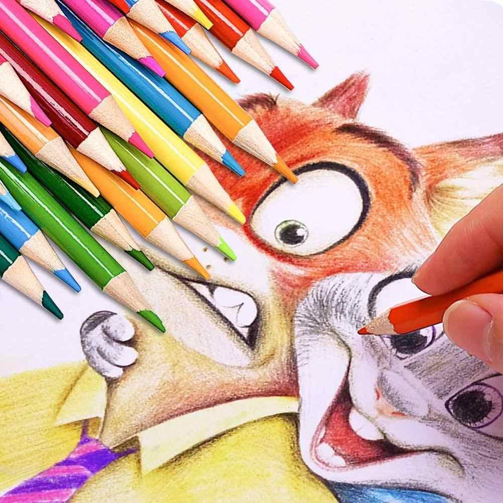 160 الألوان المهنية النفط أٌقلام تلوين مجموعة رسومات فنية رسم الخشب اللون قلم رصاص رسومات فنية