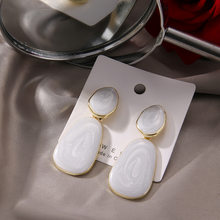 Best selling all-match creative jewelry with small fresh girl macaron color candy color dripping earrings for women party gifts