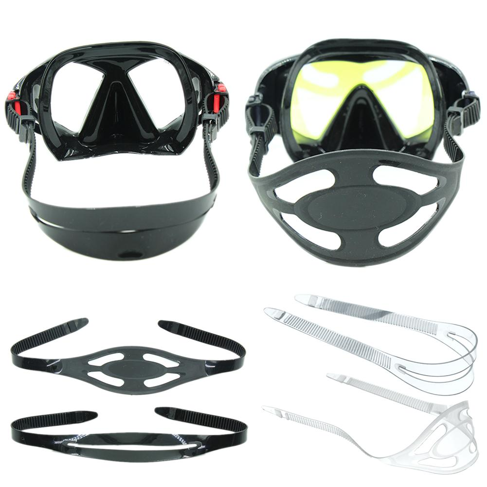High Elasticity Silicone Universal Diving Mask Strap Diving Snorkeling Mask Strap Cover Replacement Freediving Hair Protector