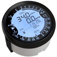 Auto Multifunction Gauge Modification 85mm GPS Speedometer Tach Fuel Gauge 8 16v Volt Meter Water Temp Meter 0 5Bar Oil Pressure