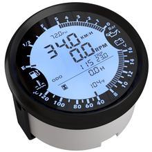 Otomatik çok fonksiyonlu göstergesi modifikasyonu 85mm GPS hız göstergesi Tach yakıt göstergesi 8 16v Volt metre su sıcaklığı ölçer 0 5Bar yağ basınç