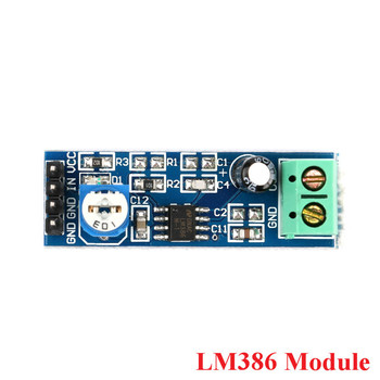 LM386 Audio Power Amplifier Module Board 20 Times Gain LM386 Adjustable 10K Variable Resistor Resistance For Raspberry Pi image