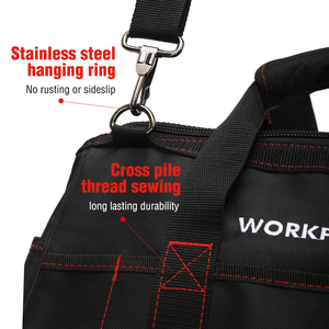 Image 3 - WORKPRO Tool Bags,  Portable Waterproof Electrician Bag Multifunction Canvas Tool Organizer for Repair Installation HVAC