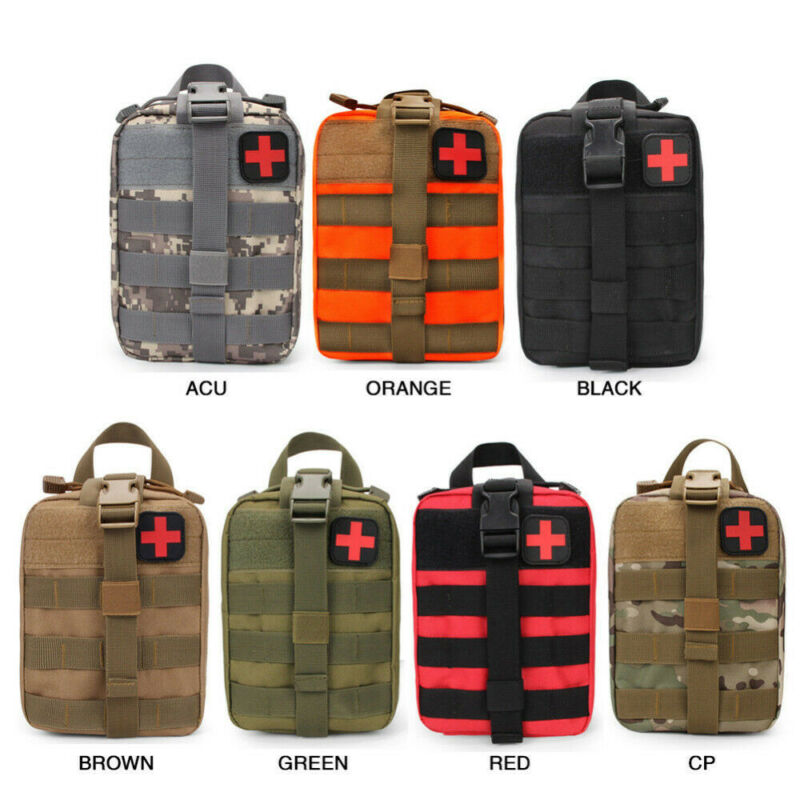 2020 Tactical Waist Pack Camping Climbing Bag Black Emergency Case Outdoor Water First Aid Kits Travel Oxford Cloth