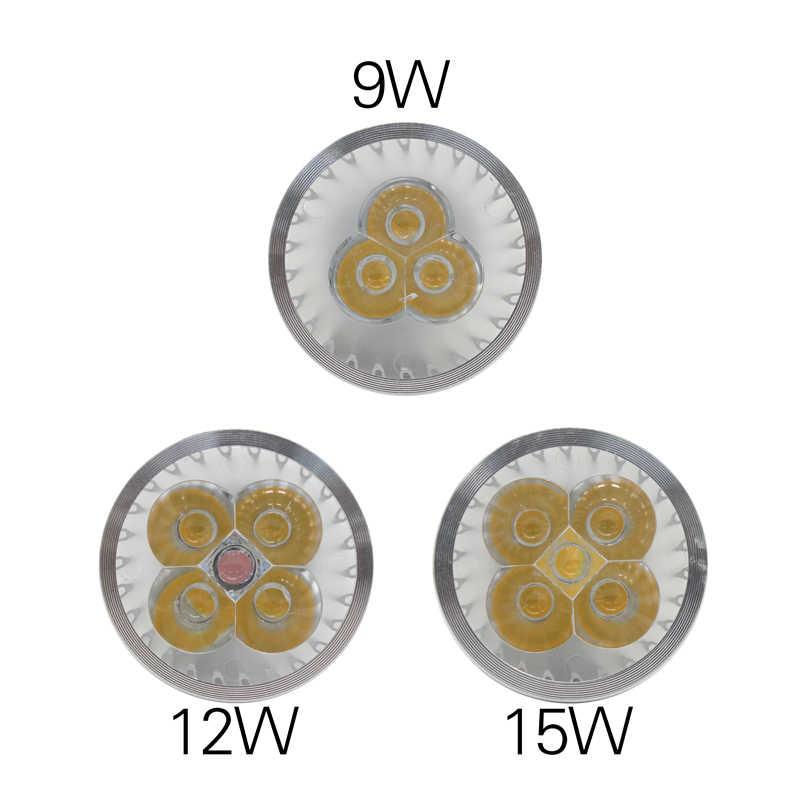 E27 e14 затемнения светодиодный свет MR16 DC12V светодиодный 9 Вт, 12 Вт, 15 Вт, GU10 светодиодный лампы высокой мощности Светодиодная лампа проектора gu 10 белый светодиодный свет