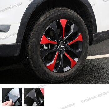 Lsrtw2017 Carbon Fiber Car Wheel Hup Anti-scratch Sticker for Chery Tiggo 8 2018 2019 2020 lsrtw2017 stainless steel car wheel hup cap panel for hyundai santa fe 4th generation 2019 2020