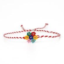 Go2boho Радужный Браслет perles miyuki браслеты с цветочным