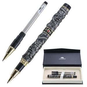 Image 1 - 高級jinhaoドラゴンボールペンヴィンテージメタル署名ペン0.7ミリメートルペン先canetaオフィス用品のギフトボックスセット材料アブラソコムツ