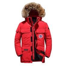 Новинка 2020 мужская зимняя куртка Мужская модная Толстая теплая