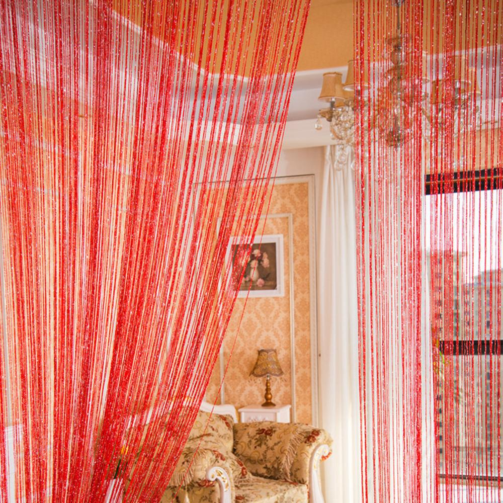 100X200cm Glitter String curtain Door Curtain Beads Room Dividers Beaded Fringe Window Panel for wedding decoration