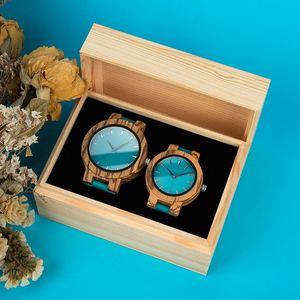 Image 5 - Zegarek dla pary こうのたろうTaro Kono Minister BOBOBIRD drewniany zegarek mężczyźni zegarki niestandardowy prezent miłośników prezenty na rocznicę w drewniane pudełko