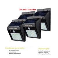2/4PCS energia 30 LED 태양 빛 야외 거리 빛 PIR 모션 센서 정원 장식 램프 보안 자리 조명 Luminar