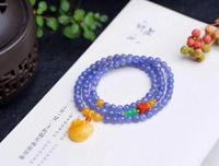 Natural Tanzania Tanzanite Gemstone Clear Beads 3 Laps Bracelet Amber 5mm For Fashion Healing Stone AAAAA
