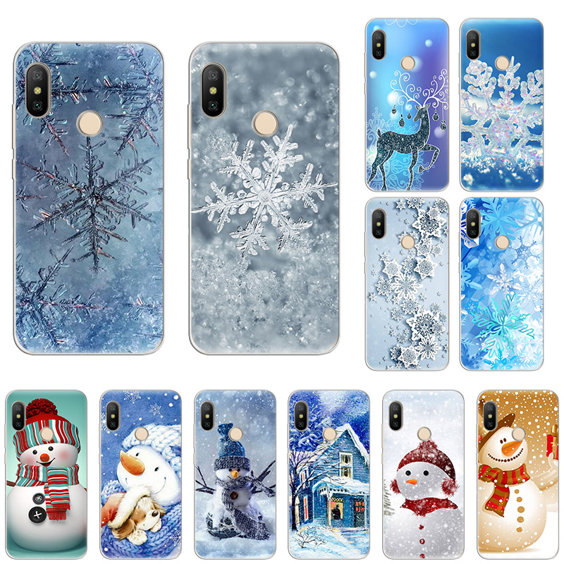 Winter Christmas Sweet Snowman SOFT Silicone <font><b>phone</b></font> case for <font><b>Redmi</b></font> 7 Note8 Note7 S2 K20 Pro 6A <font><b>7A</b></font> 5A 5Plus Note5 4 Fashion <font><b>cover</b></font> image