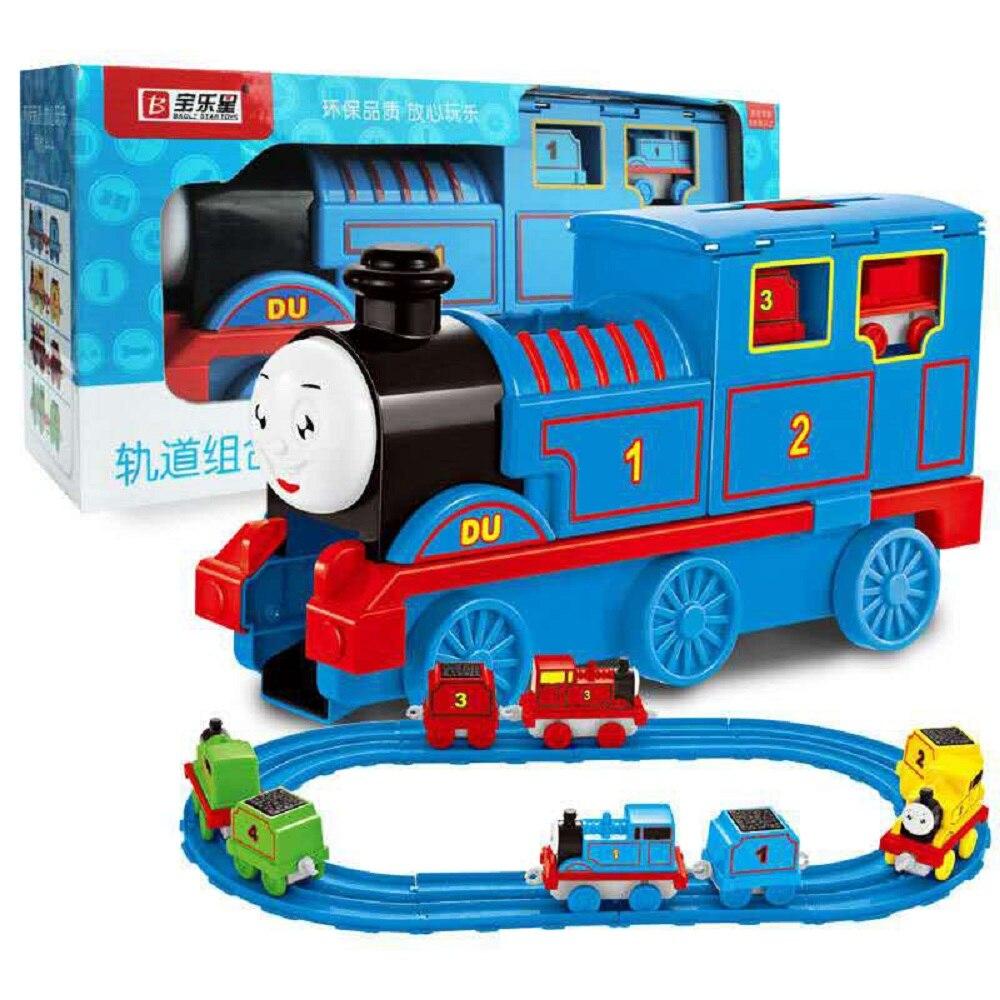Grand train et petit train combinaison piste enfant jouet cadeau éducatif interactif jouet LEGAO THOMAS