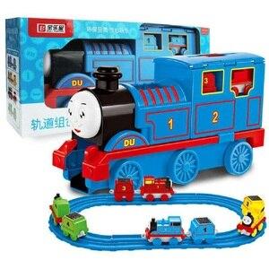 LEGAOTHOMAS Лего Томас инерция тянущийся игрушечный поезд детский железнодорожный поезд подарок LEGAO THOMAS