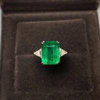 CSJ Fine Jewelry Custom Made Lab Grown Emerald For Diy Jewelry 14k Gold Fine Cutting Gem Ring