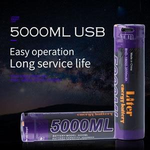 Image 2 - 노트북 배터리 8 pcs 리터 에너지 배터리 usb 5000 ml 리튬 이온 충전식 배터리 usb 18650 3500 mah 3.7 v 리튬 이온 배터리 + usb 와이어