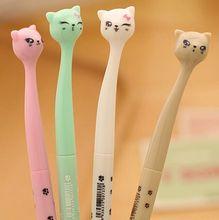4 pcs/lot cute cartoon cat gel pen kawaii stationery pens canetas material escolar office school supplies papelaria цена