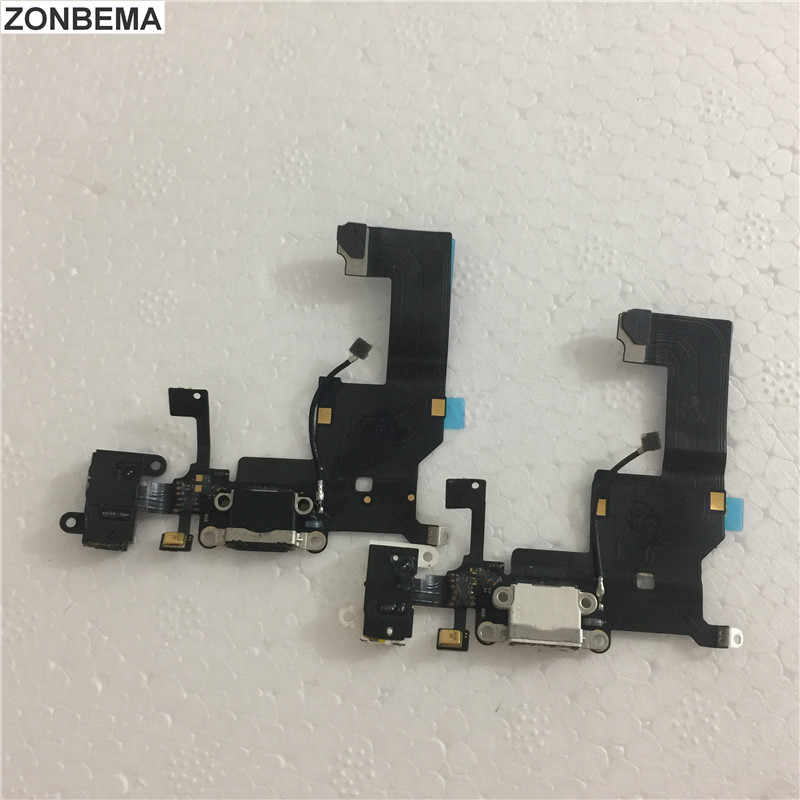 Zonbema Oplader Poort Opladen Dock Usb Connector Flex Kabel Voor Iphone X 5 7 8 Plus Hoofdtelefoon Audio Jack Lint