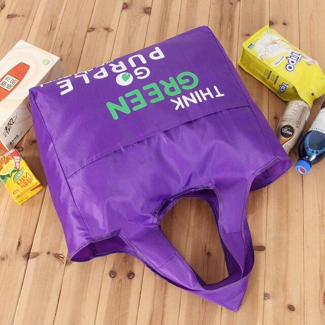Green Reusable Shopping Bags Women Foldable Tote Bag Portable Cloth Eco Grocery Bag Folding Large Capacity Handbags 4