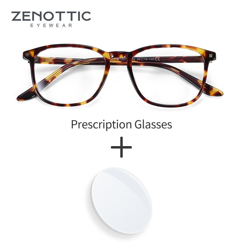 ZENOTTIC – lunettes de Prescription en acétate pour hommes, montures optiques carrées, myopie, hypermétropie, photochromique