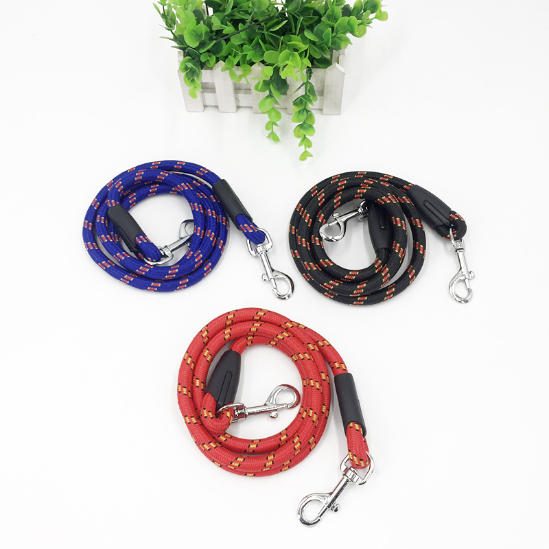 Anti-slip Pet Fine Lines Round Rope Traction Belt Small Dogs Hand Holding Rope Hand Holding Rope Double Headed Traction Belt