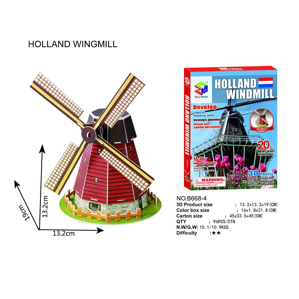 Casse-tête 3D-Moulin à vent