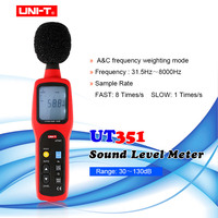 UNI T UT351 Digital Sound Level Meter 30 130dB Decibel Meter Noise Tester has A&C frequency weighting/fast/slow Sample Rate