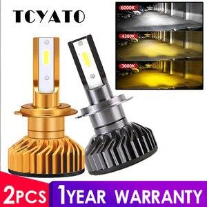 TCYATO Mini Canbus lampada H4 H7 LED de la linterna del coche 12V 7200LM 4300 K 6000 K 3000 K lámpara H3 h1 9005 HB3 9006