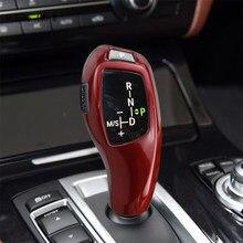 Estilo de coche palanca cubierta de Protector de adornos decoración Interior pegatinas para BMW 1 3 5 serie F20 F30 f10 f32 X3 F25 X5 F15 X6 F16