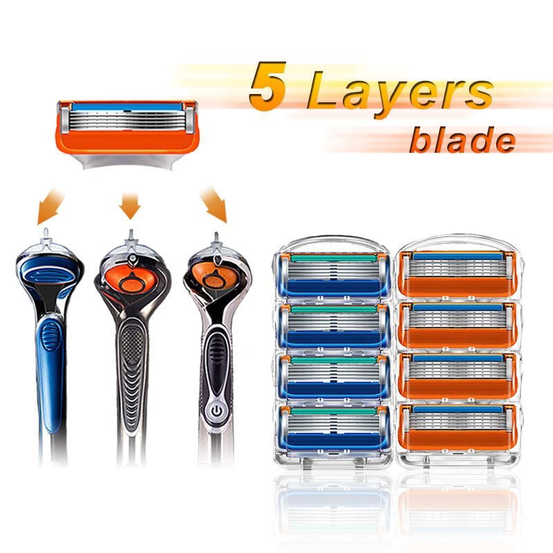 Cassettes For Shaving Male Face Care Compatible With Gillettee Fusionn Razor Blade Replaceable Blades Replacement Head Cartrdges