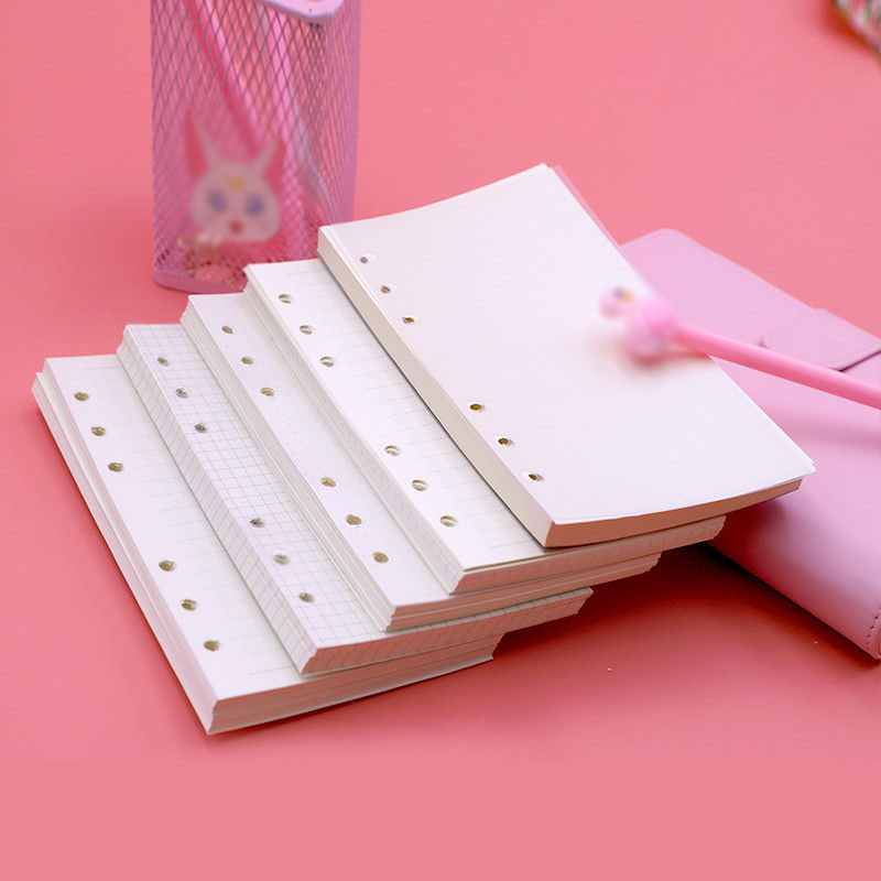40 Sheets A6 Ring Notebook Insert Refills 6 Holes Loose Leaf Papers Spiral Diary Planner Blank Inner Core School Office Supplies