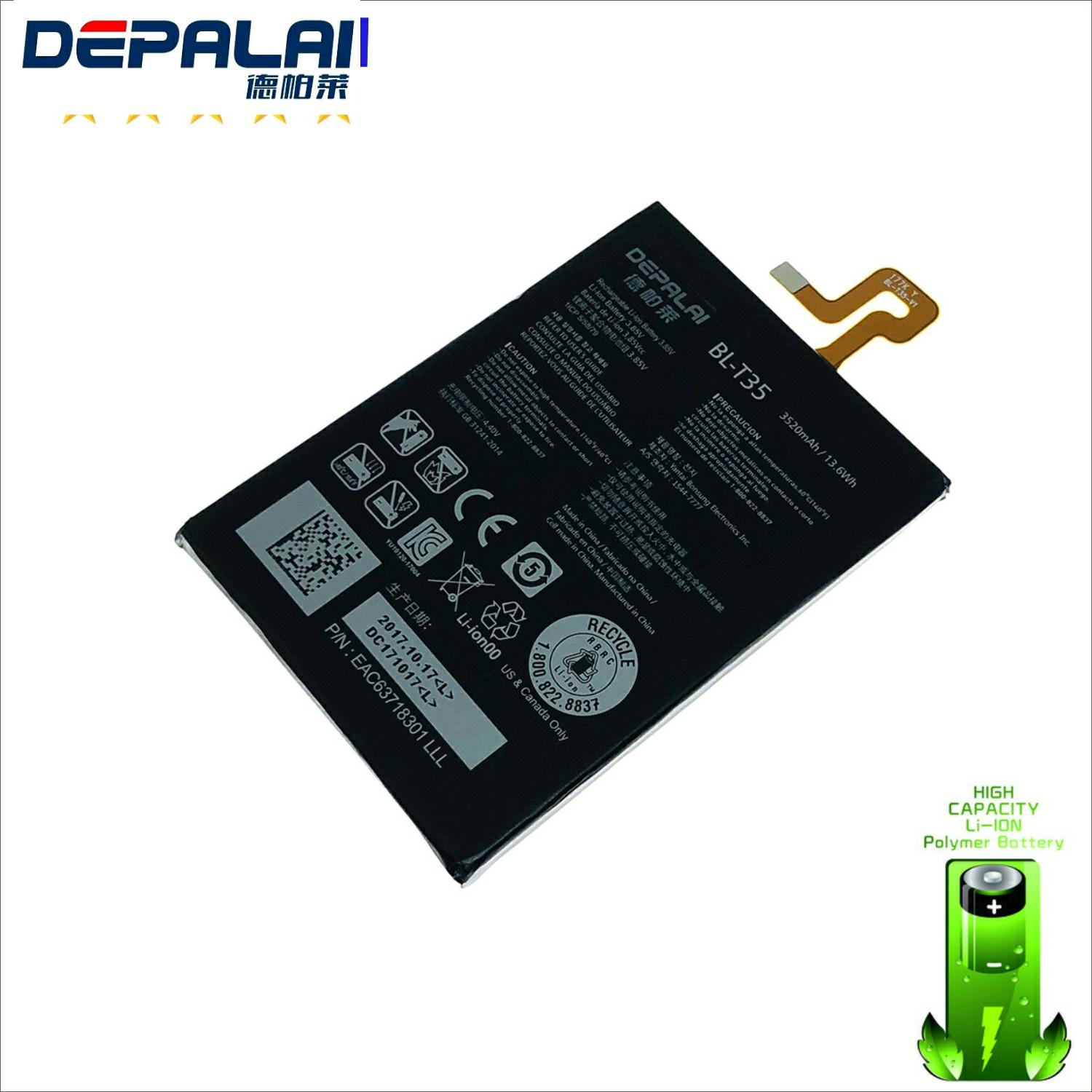 High Quality 3520mAh 3.85V DC <font><b>BL</b></font>-<font><b>T35</b></font> Replacement Battery For LG Google 2 Pixel 2 XL Batteries image