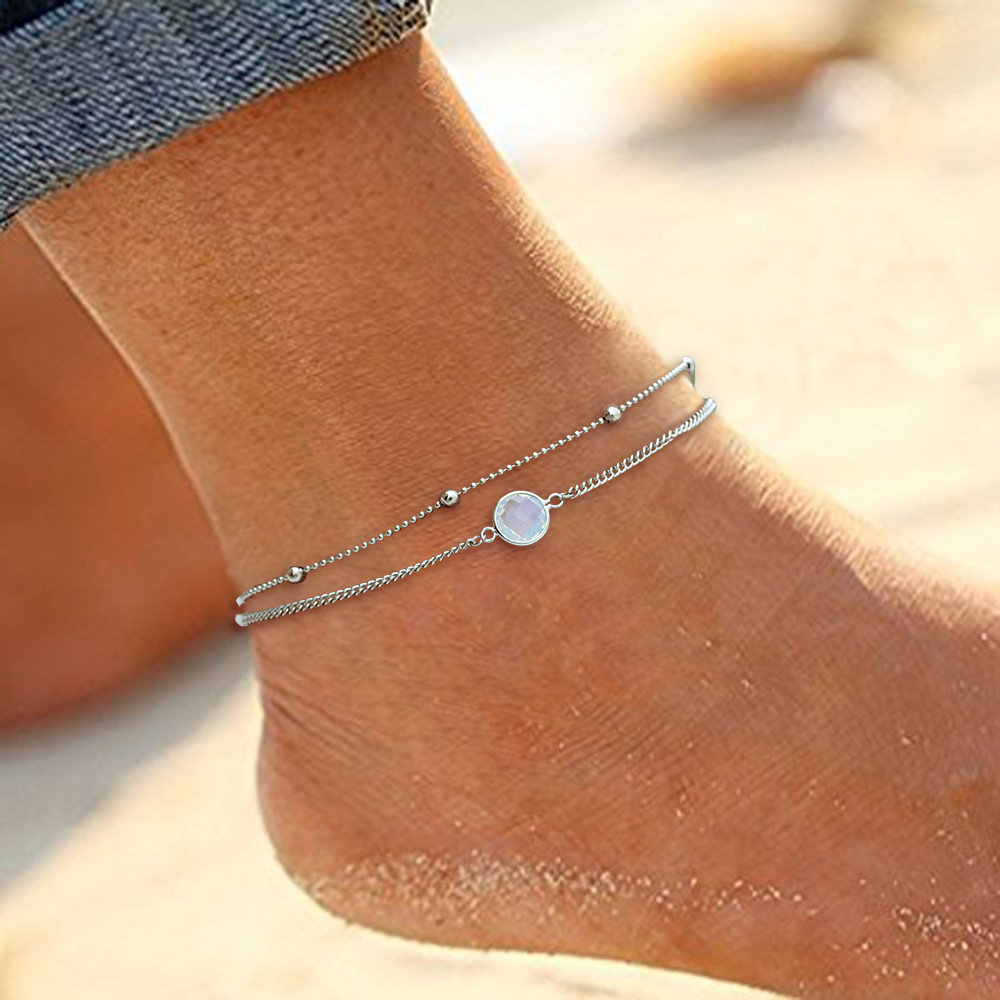 Vintage Beach Foot Anklet For Women Bohemian Female Anklets Summer Bracelet On the leg Jewelry