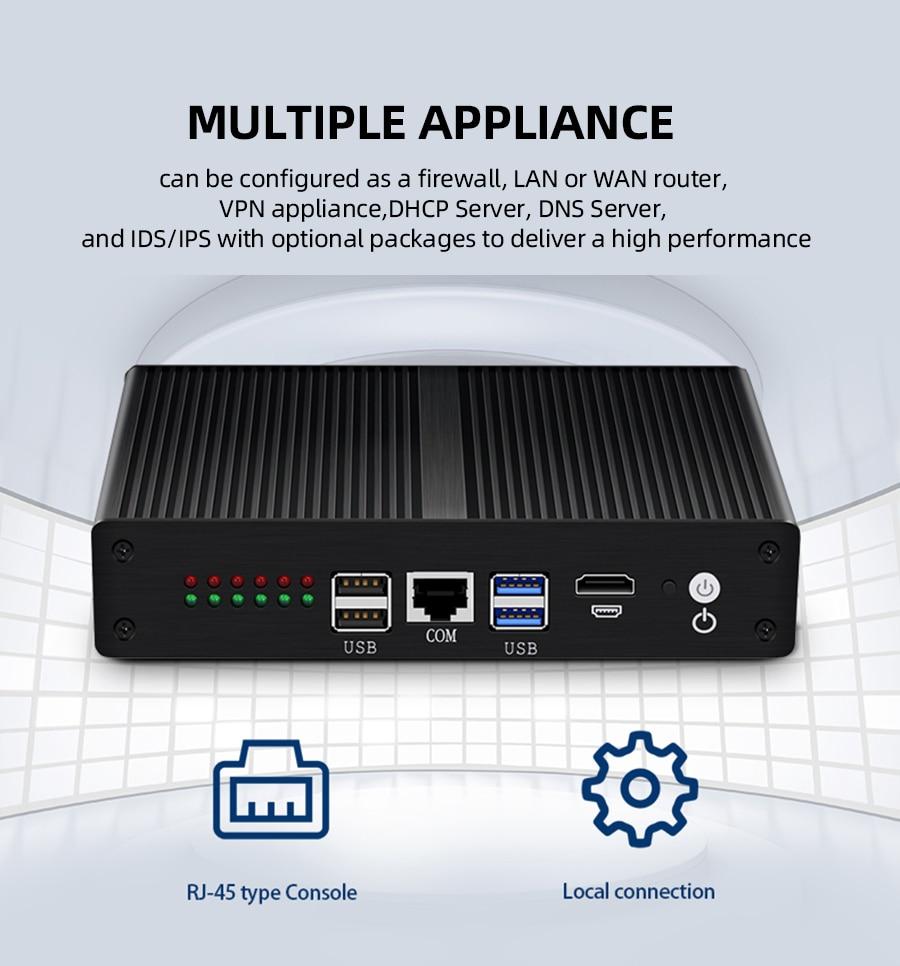Closeout DealsMini PC Firewall Router Pfsense Gigabit 4010U Intel-Core Aes Ni HDMI Wifi 6-Lan-Intel