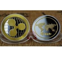 Золотая серебряная тарелка, волнистая монета, памятная круглая монета для коллекционеров, монета XRP