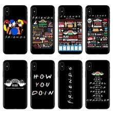 цена на Central Perk Coffee friends tv show how you doin Black silicone Phone Case Cover For iPhone XS MAX 5 5s SE 6 6S 7 8 Plus XS XR