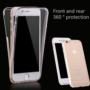 360 Full Body Front Back Silicone TPU Soft Gel Protective Case Cover For iPhone 5 5s SE 6 6S 7 8 Plus X image