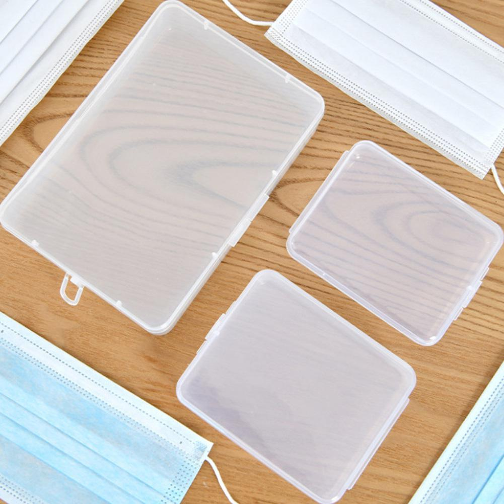 Plastic Portable Transparent Anti-dust Mask Storage Box Dustproof Pollution-Free Face Masks Container Disposable Mask Case