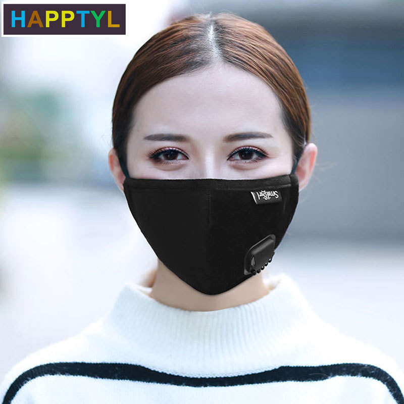 HAPPTYL Mask Dust Mask Anti Pollution Mask PM2.5 Activated Carbon Filter Insert Can Be Washed Reusable Pollen Mask For Men Women