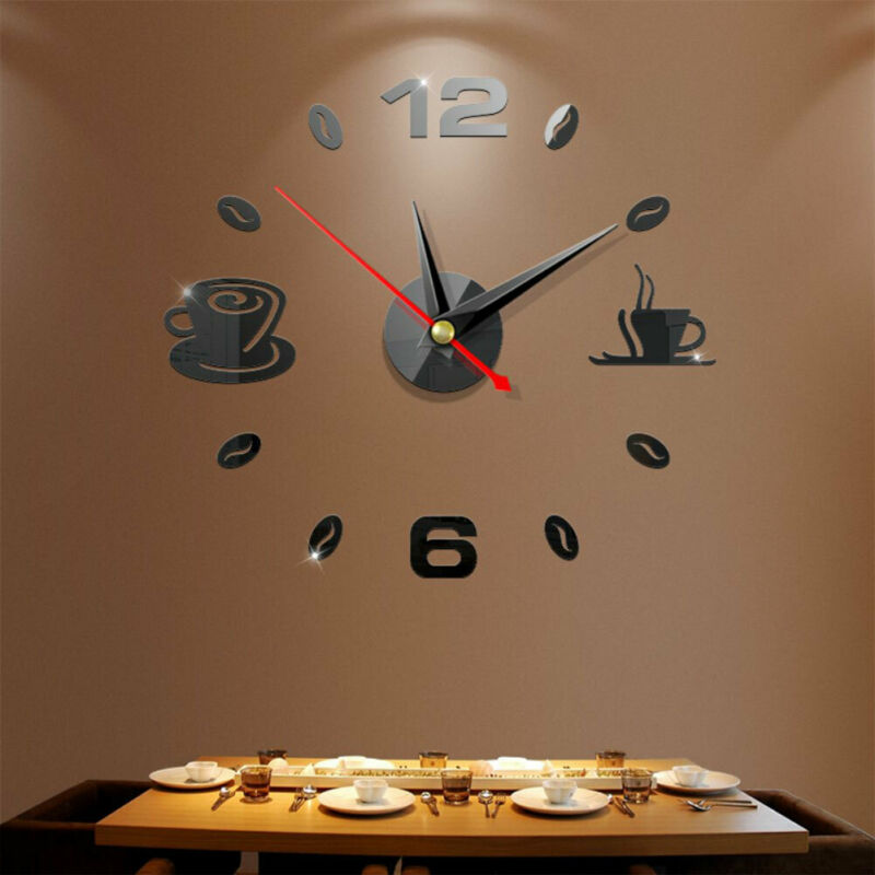 Hot sale 3D Large Number Wall Clock Mirror Wall Clock Mirror Sticker Big Watch Sticker Home Decor Unique Gift DIY Wall Stickers|Decorative Mirrors|   - AliExpress