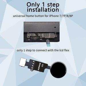 Image 5 - 10pcs 6th Generation 3D Touch Universal Home Button For iPhone 7 7 plus 8 8 plus SE 2020 flex cable Restore return function